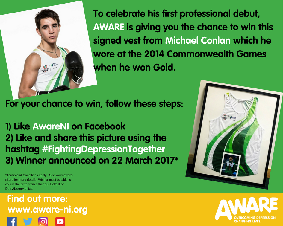 For your chance to win this signed and framed Michael Conlan vest simple 2